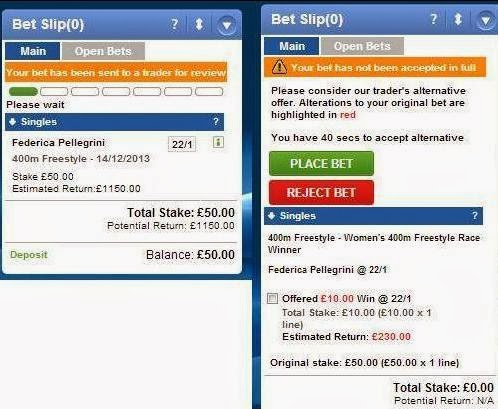 A bet to win £100Sir?